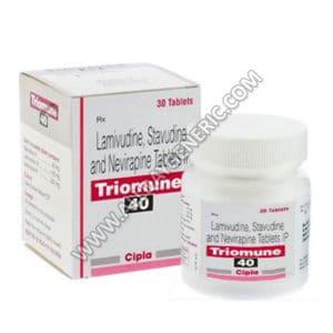 Triomune 40 (lamivudine zidovudine, Triomune 40 Tablet)