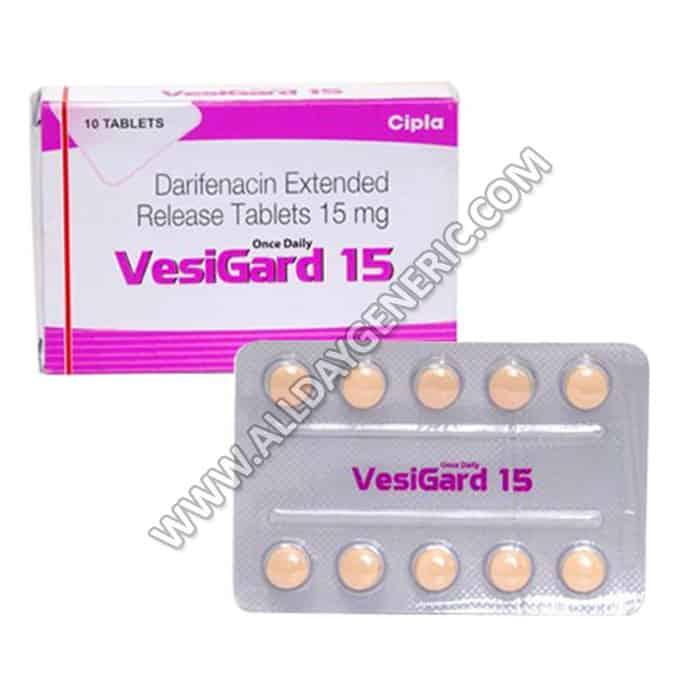 Darifenacin 15 mg (Vesigard 15)