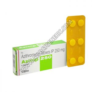 Azicip 250 mg Tablet (Azithromycin)