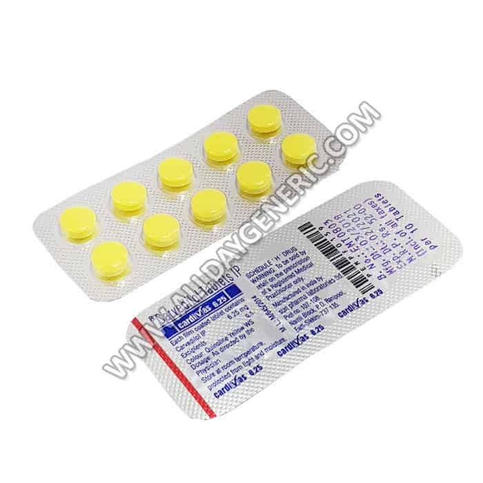 Carvedilol 6.25mg | Cardivas 6.25 mg (Carvedilol)