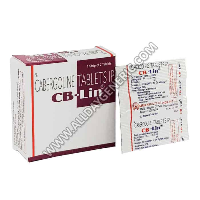 CB-Lin 0.5 mg, Cabergoline 0.5 mg, what is cabergoline