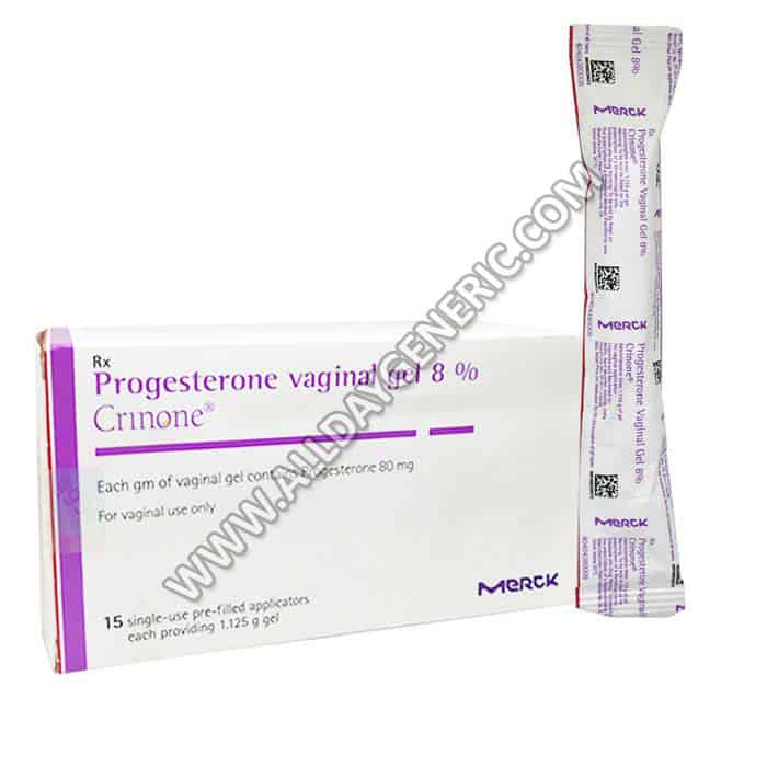 Crinone Vaginal Gel 8%, Progesterone Vaginal Gel