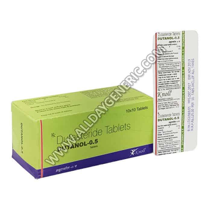Dutanol 0.5 mg Tablet (Dutasteride)