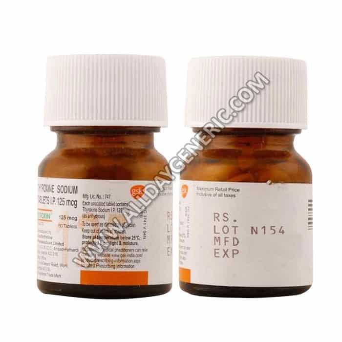 Eltroxin 125 mcg, Thyroxine / Levothyroxine 125 mcg