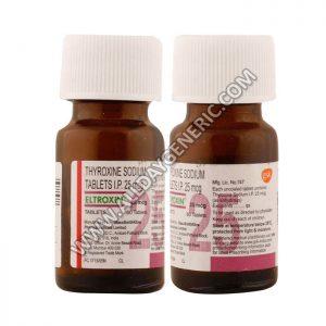 eltroxin 25 mcg, Thyroxine / Levothyroxine 25 mcg