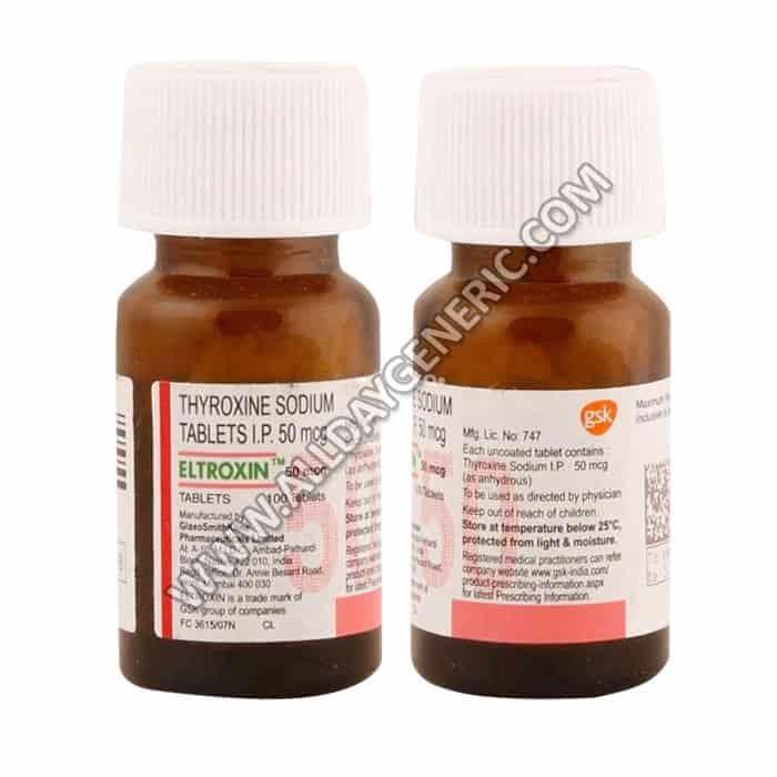 eltroxin 50 mcg, Thyroxine / Levothyroxine 50 mcg