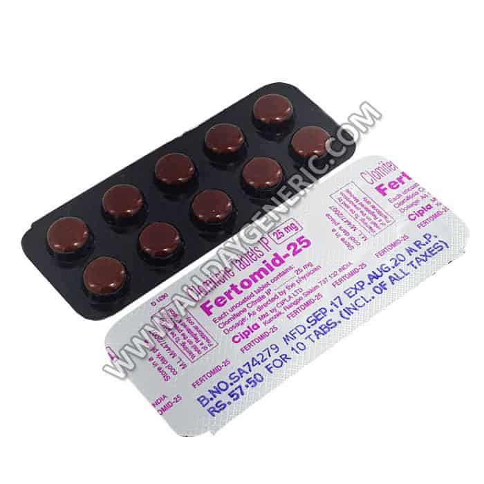 Fertomid 25 mg (Clomiphene)