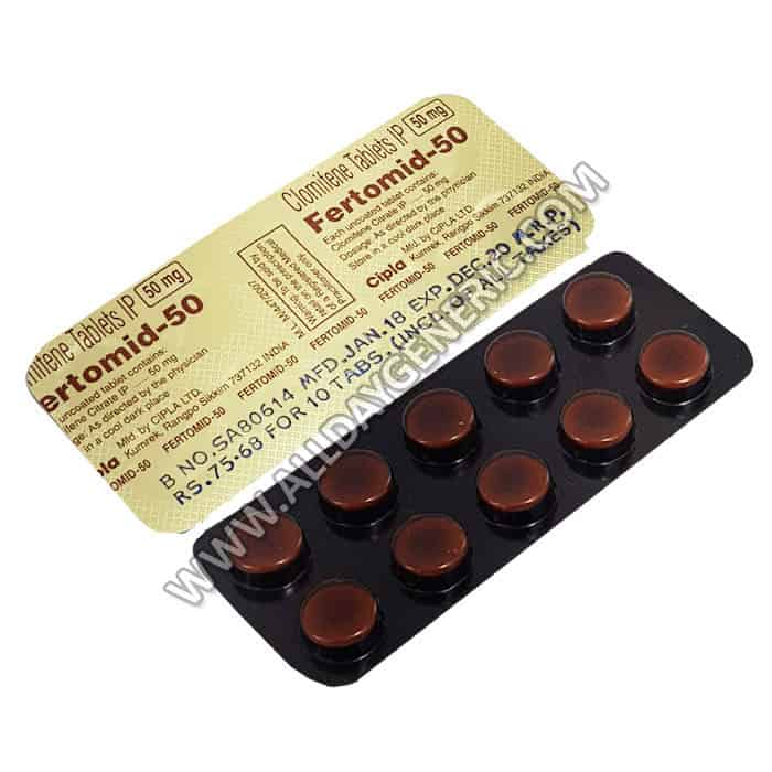 Fertomid 50 mg, Clomiphene 50mg, Infertility Tablets