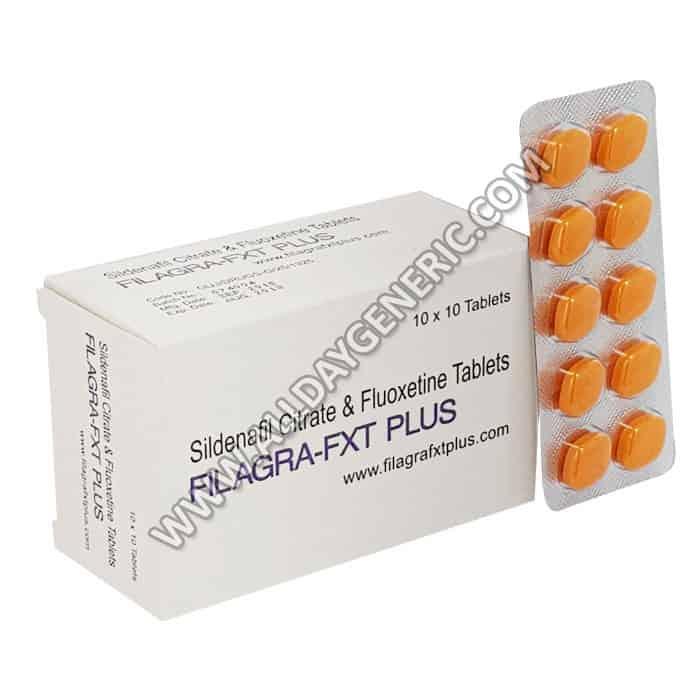 Sildenafil 100mg Fluoxetine 60mg (Filagra FXT Plus)