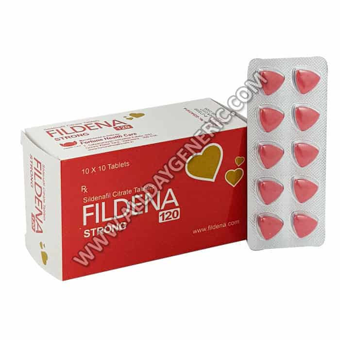 Fildena 120, Fildena Strong 120 mg, red pills, Sildenafil 120 mg, Buy Fildena Online