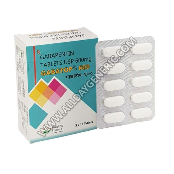 Gabatop 600 Mg Tablet