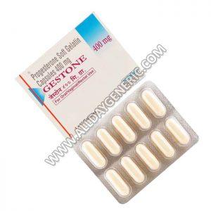 Gestone 400 mg, Progesterone SoftGelatinCapsules
