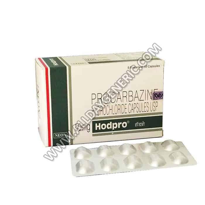 Procarbazine 50mg, Procarbazine 50mg capsule, hodpro 50 capsule
