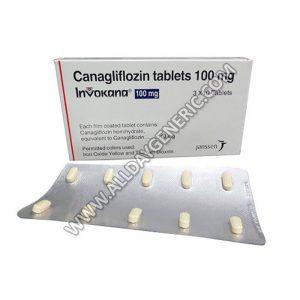 Invokana 100 mg Tablet, Canagliflozin
