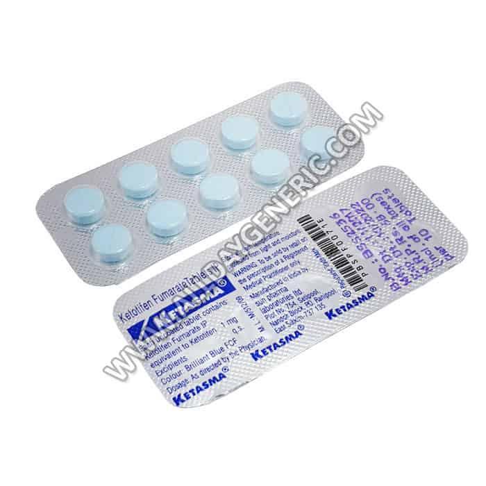 ketasma | Ketasma 1 mg (Ketotifen)