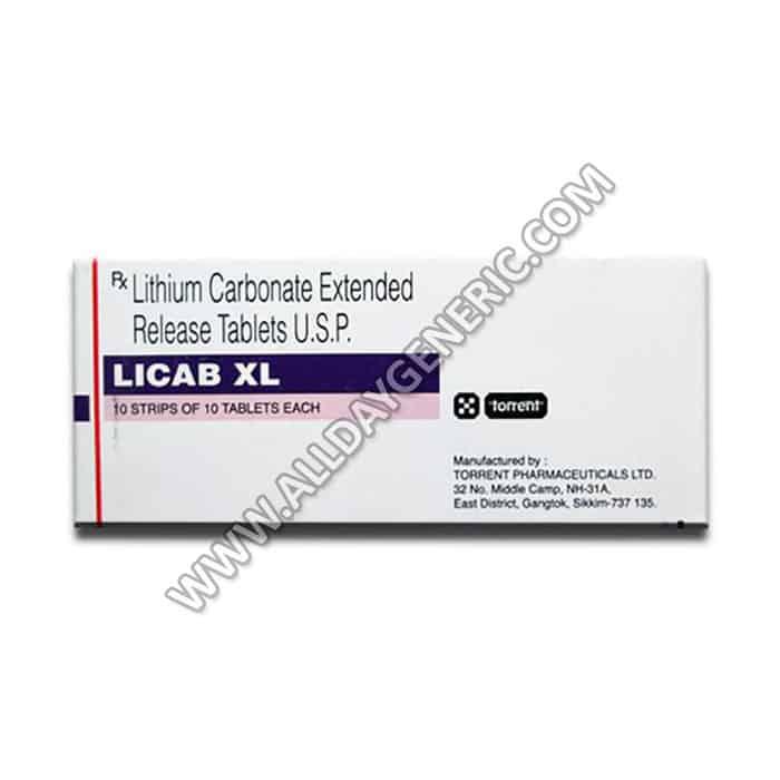 Licab XL 400 mg Tablet(Lithium)