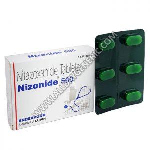 Nizonide 500 mg, Nitazoxanide, Nizonide