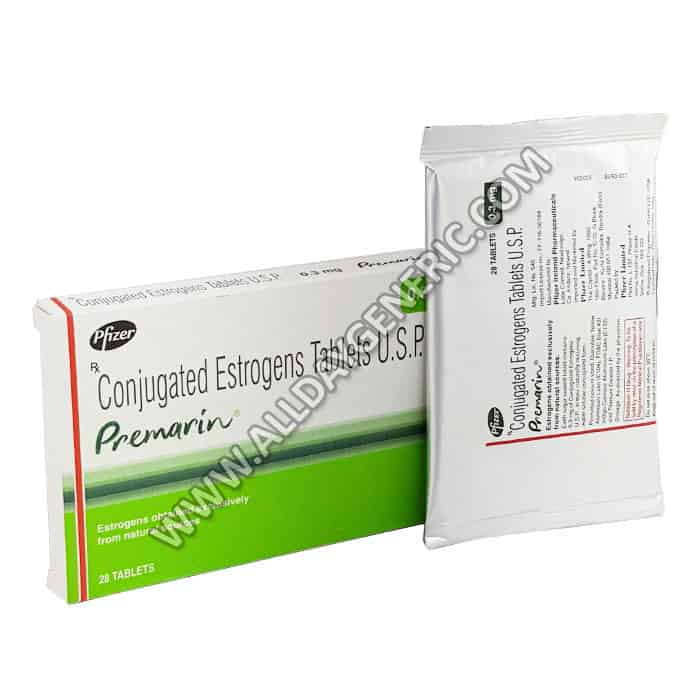 Conjugated Estrogens Tablets, Premarin 0.30 mg, Premarin Tablets