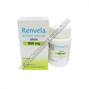 Renvela 800 mg Tablet(Sevelamer)