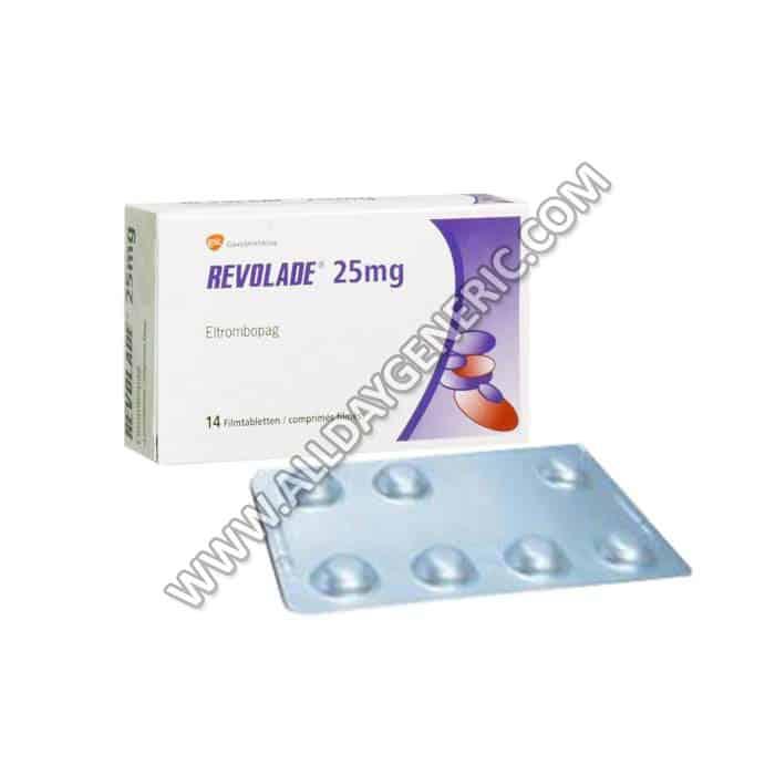 Revolade 25 mg Tablet(Eltrombopag)