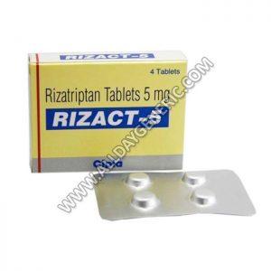 Rizact 5 mg Tablet(Rizatriptan)