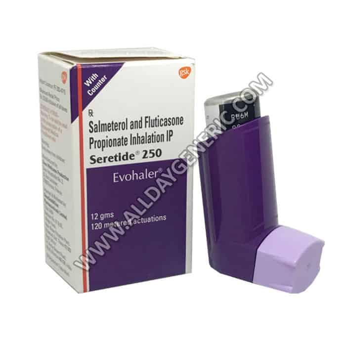 Seretide 250 Evohaler, Salmeterol Fluticasone propionate