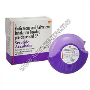 Seretide 50mcg/500mcg Accuhaler, Salmeterol and Fluticasone propionate accuhaler, seretide 500 accuhaler
