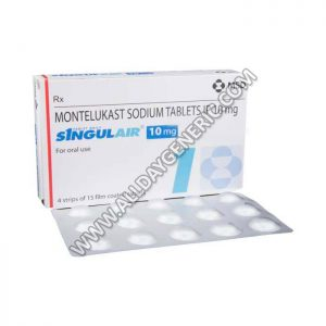 Singulair 10 mg Tablet, Montelukast 10mg tablets