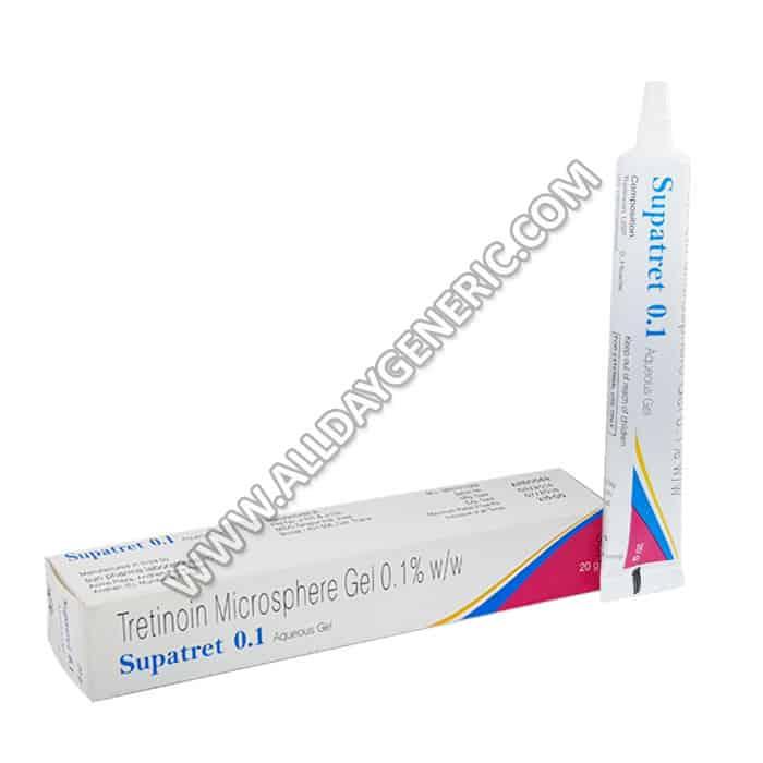supatret-0.1%-gel, Tretinoin gel, Supatret Gel