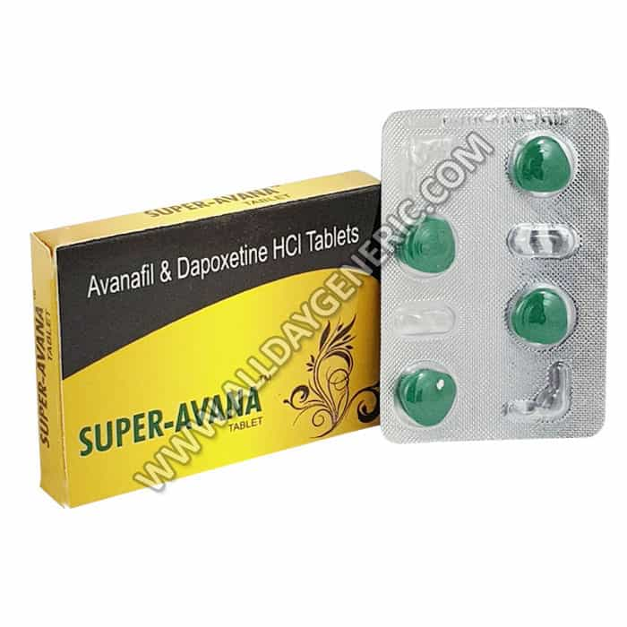 Super Avana, Avanafil 100 mg plus, Dapoxetine 60 mg