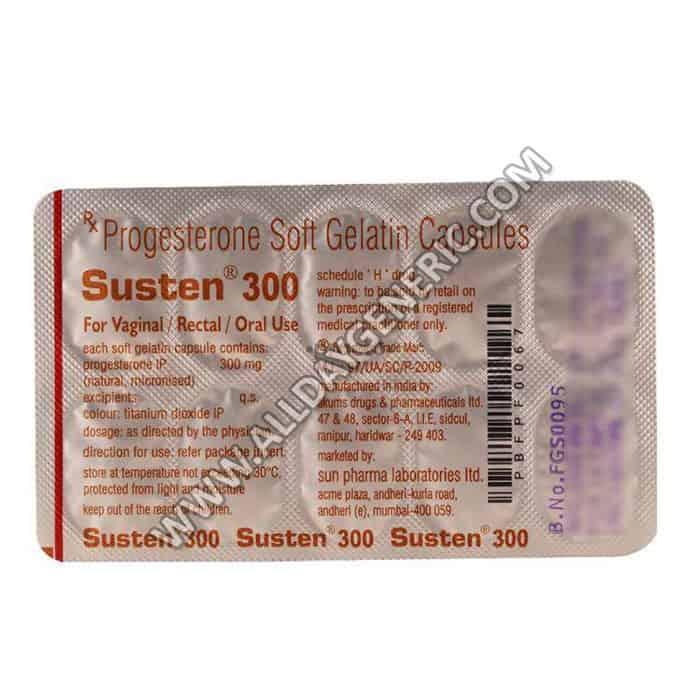 Susten 300 Soft Gelatin Capsules, Progesterone 300mg
