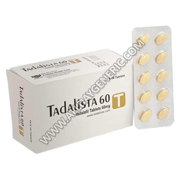 Generic Tadalafil, Weekend Pill, Tadalista 60