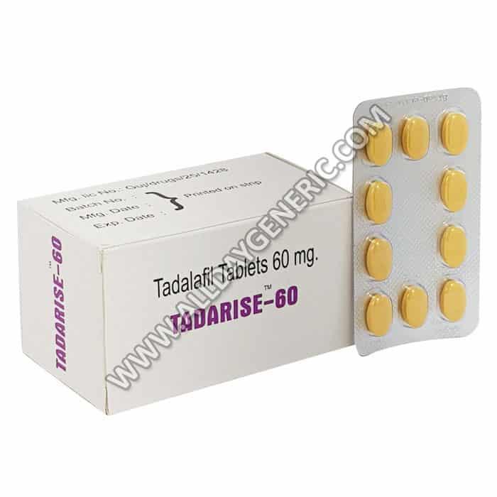 Tadarise Pro 20, tadalafil tablets, tadarise 60