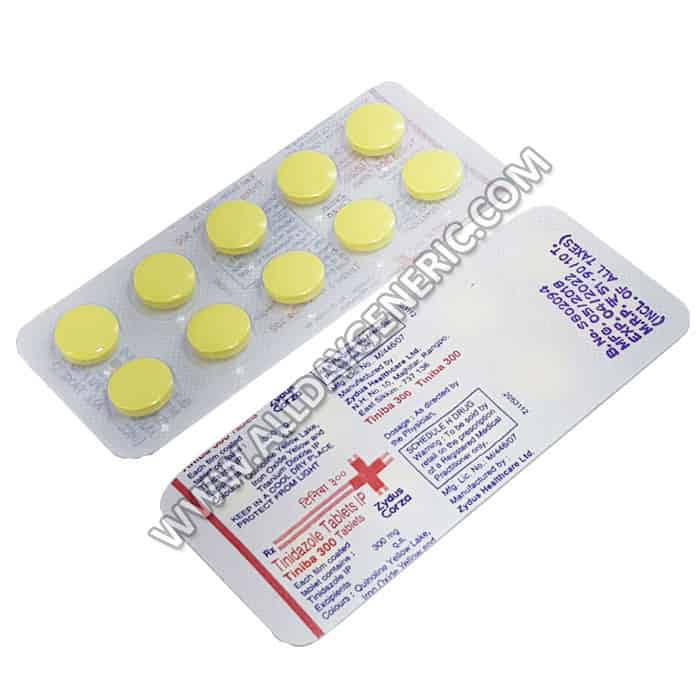Tiniba 300 mg Tablet (Tinidazole)