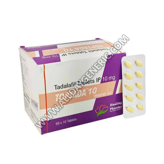 Toptada 10 mg Tablet, tadalafil 10 mg, tadalafil pills
