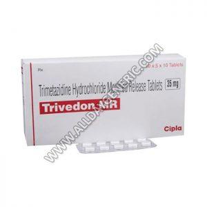 Trivedon 35 mg Tablet(Trimetazidine)