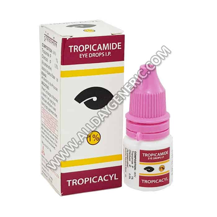Tropicamide eye drops  (Tropicacyl)