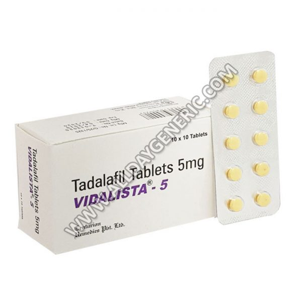 vidalista-5-mg Tadalafil 5 mg