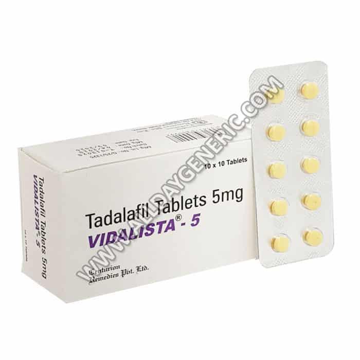 vidalista 5 mg, Tadalafil 5 mg