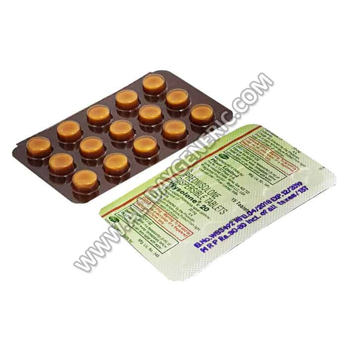 Wysolone 20 mg, Prednisolone 20mg tablets