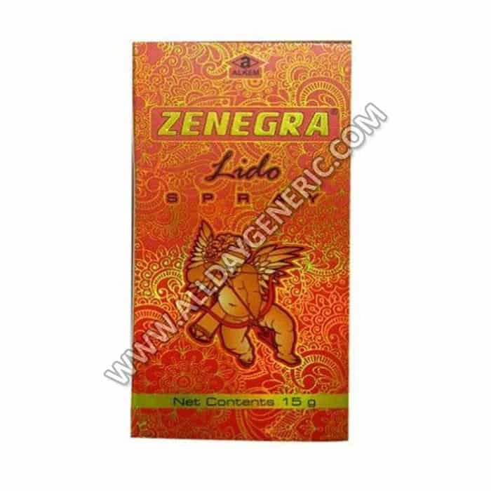 Zenegra Lido Spray, Lidocaine, Last Longer Spray