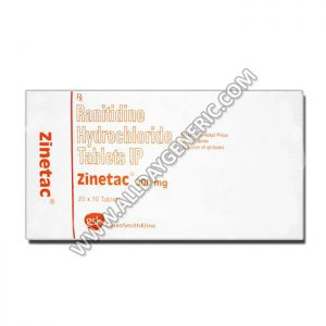 Zinetac 300 mg Tablet, Ranitidine, zinetac, ranitidine 300