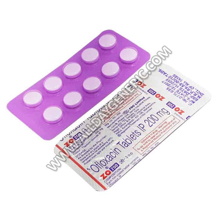 Zo 200 mg Tablet (Ofloxacin Price)