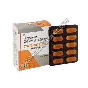 Zoviclovir 400 mg Tablet (Generic Zovirax)