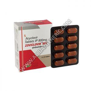 Zoviclovir 800 mg Tablet (Generic Zovirax)