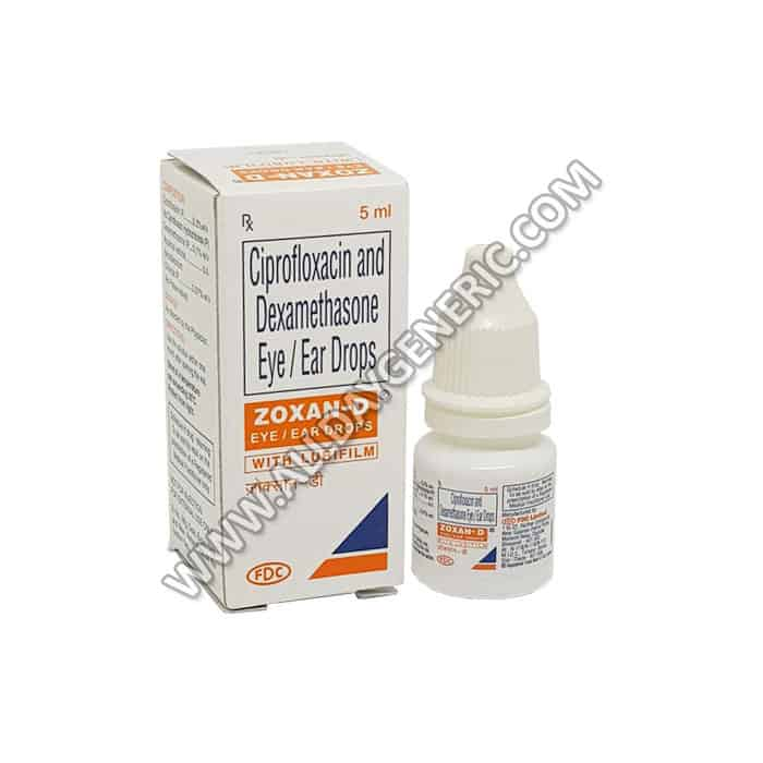 Zoxan-D Eye Drop, Ciprofloxacin Dexamethasone