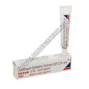 Zoxan Ointment, Ciprofloxacin, Ciprofloxacin Ointment