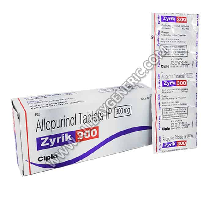 Zyrik 300 mg Tablet (Allopurinol)