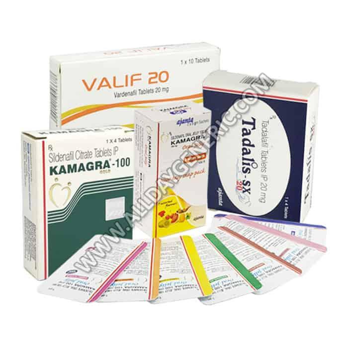 Ajanta ED Trial Pack, Erctile Dysfunction Medicine - Sildenafil, Tadalafil, Vardenafil