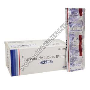 Appecia 1 mg (finasteride 1mg) finasteride